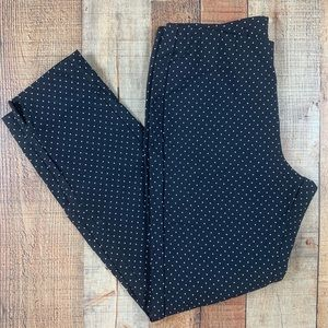 Who What Wear 12 Black Polka Dot Ankle Pants EUC